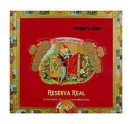 Romeo y Julieta Reserva Real Veronas Court Tube Medium Brown
