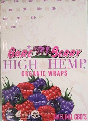 High Hemp CBD Organic wraps- BARE BERRY