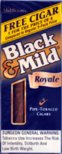 "BLACK & MILD ""ROYALE "" CIGARS 5/5PKS"