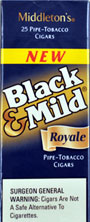 "BLACK & MILD ""ROYALE "" CIGARS 25 COUNT BOX"