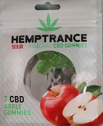 Hemptrance CBD Sour Gummies 50mg - APPLE