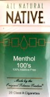 NATIVE MENTHOL 100 BOX