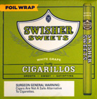 SWISHER SWEETS WHITE GRAPE CIGARILLOS FOIL WRAPPED 60CT BONUS BOX
