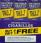 SWISHER SWEETS CIGARILLOS FOIL GRAPE 30/3PKS