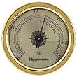 Gold Tone Analog Hygrometer