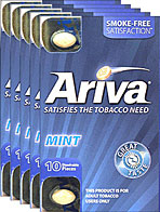 ARIVA DISSOLVABLE TOBACCO PIECES - MINT- 5 PACKS OF 10 