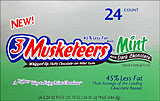 3 Musketeers - Mint with Dark Chocolate 24CT Box