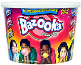 BAZOOKA ASSORTED BUBBLE GUM 275CT TUB