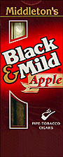 "BLACK & MILD ""APPLE"" CIGARS 10/5PKS"