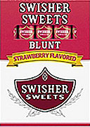 SWISHER SWEETS BLUNT STRAWBERRY 10 /5 PKS 