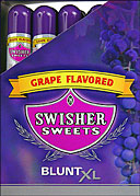 SWISHER SWEETS BLUNT XL - GRAPE - 25 TUBED CIGARS
