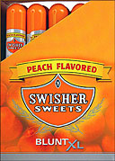 SWISHER SWEETS BLUNT XL - PEACH - 25 TUBED CIGARS