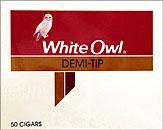 WHITE OWL DEMI-TIP 50CT BOX