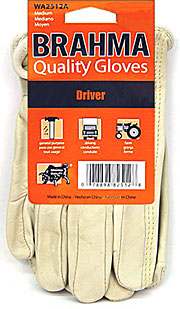 Brahma Cow Hide Driver Gloves Large pair 