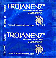Trojan-Enz Lubricated Condoms 12ct Strip