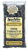 SUPER VALUE BLACK & GOLD PIPE TOBACCO 12 OZ BAG