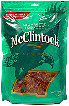 McCLINTOCK MENTHOL CIGARETTE TOBACCO 1LB BAG