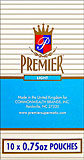 PREMIER LIGHT CIGARETTE TOBACCO 10/.75OZ POUCHES