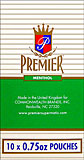 PREMIER MENTHOL CIGARETTE TOBACCO 10/.75OZ POUCHES