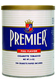 PREMIER FULL FLAVOR CIGARETTE TOBACCO 6OZ CAN