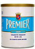 PREMIER LIGHT CIGARETTE TOBACCO 6OZ CAN