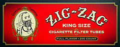 ZIG ZAG CIGARETTE TUBES FULL FLAVOR KING SIZE - 200CT BOX