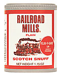 RAILROAD MILLS PLAIN SNUFF 12CT