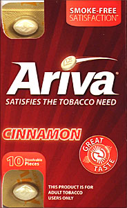 ARIVA DISSOLVABLE TOBACCO PIECES - CINNAMON - 1 PACK OF 10