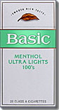 BASIC MENTHOL ULTRA LIGHT 100 BOX 