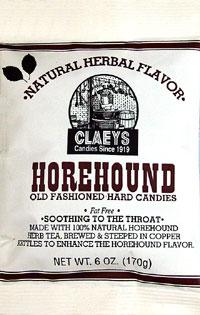Claeys Old Fashioned Natural Horehound Barrels 6oz