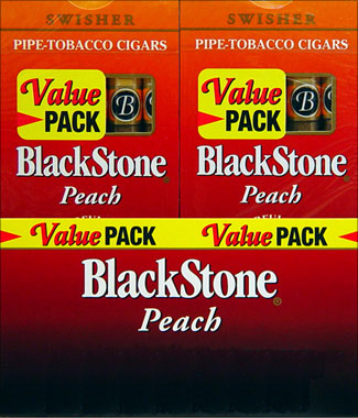 BLACKSTONE PEACH CIGARS VALUE PACK. 20/5PKS