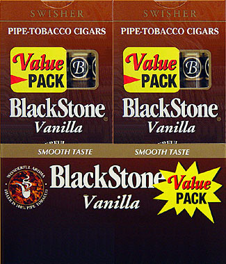 BLACKSTONE VANILLA CIGARS VALUE PACK. 20/5PKS