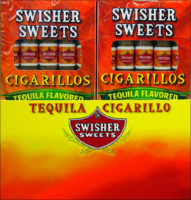 SWISHER SWEETS CIGARILLOS TEQUILA 20/5PKS