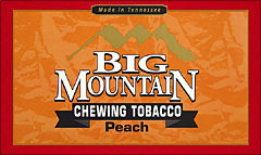 BIG MOUNTAIN PEACH CHEWING TOBACCO 6 - 16OZ POUCHES