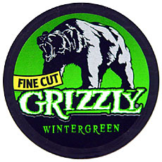 GRIZZLY FINE CUT WINTERGREEN 5 CT ROLL