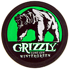 GRIZZLY LONG CUT WINTERGREEN 5 CT ROLL 