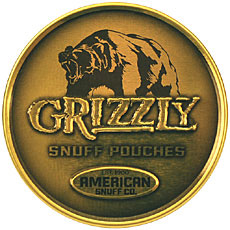 GRIZZLY SNUFF POUCHES 5CT ROLL 