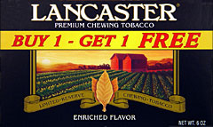 LANCASTER CHEWING TOBACCO - PROMOTIONAL CARTON 