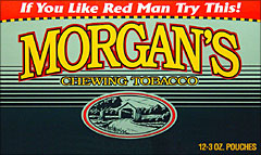 MORGAN'S CHEWING TOBACCO 12 COUNT