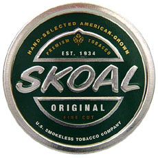 SKOAL FINE CUT WINTERGREEN  5CT/ROLL