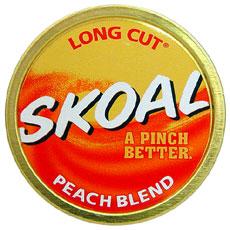 SKOAL LONG CUT PEACH BLEND 5CT/ROLL - Smokes-Spirits com