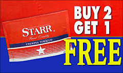 STARR CHEWING TOBACCO 12CT PROMO BOX 