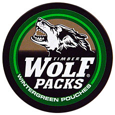 TIMBER WOLF PACKS WINTERGREEN POUCHES 5CT ROLL - Smokes