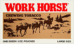 WORK HORSE CHEWING TOBACCO 12 COUNT