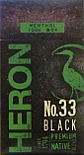 HERON No.33 BLACK MENTHOL 100 BOX
