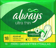Always Ultra Thin Pads Regular 18ct