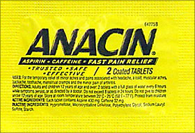 Anacin 12 Packets Of 2 Tablets