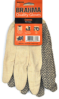 Brahma Canvas Pvc Dots Gloves