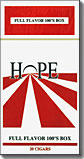 Hope Filtered Cigars - Full Flavor 100 Box