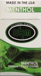 Ohm Filtered Cigars - Menthol 100 Box